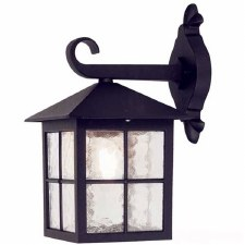 Elstead Winchester Outdoor Wall Light Lantern Black
