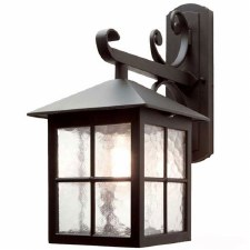 Elstead Winchester Outdoor Wall Light Lantern Fancy Bracket Black