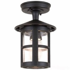 Elstead Hereford Tube Light Down Black
