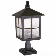 Elstead Winchester Pedestal Lantern Light Black