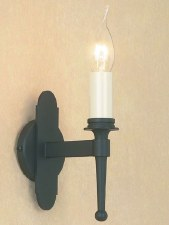 Blenheim Single Wall Light Matt Black
