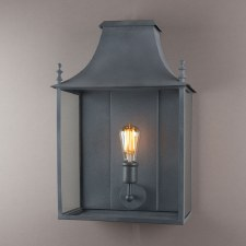 Blenheim Wall Lamp Wide Zinc