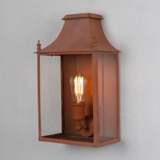 Blenheim Wall Lamp Medium Corten Steel