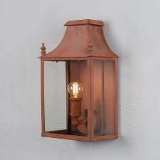 Blenheim Coach Lamp Small Corten Steel