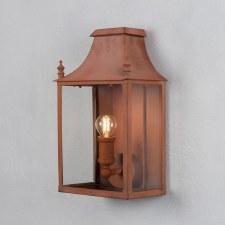 Blenheim Coach Lamp Small Corten Steel