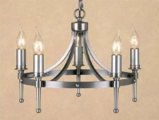 Blenheim 5 Light Chandelier Sterling