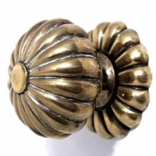 Bloom Door Knobs Brass Renovated Brass Look