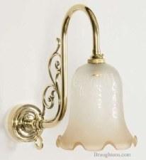 Bloomsbury Single Wall Light, Light Antique Brass
