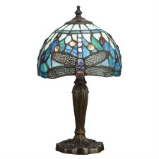 Interiors 1900 Blue Dragonfly Intermediate Tiffany Table Lamp
