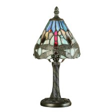 Interiors 1900 Blue Dragonfly Mini Tiffany Table Lamp