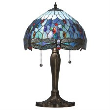 Interiors 1900 Blue Dragonfly Small Tiffany Table Lamp