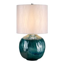 Elstead Blue Globe Table Lamp