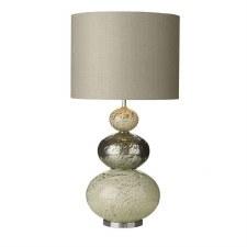 David Hunt BOA4355 Boavista Table Lamp Base Pewter/Cream Glass