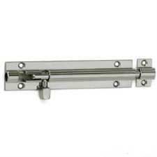 "Croft Straight Door Bolt 10""x1.25"" Polished Nickel"