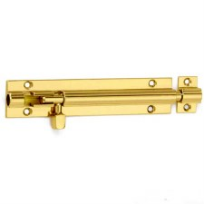 "Croft Straight Door Bolt 10""x1.5"" Polished Brass Unlacquered"