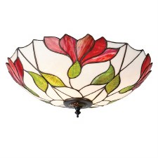 Interiors 1900 Botanica Tiffany Flush Ceiling Light