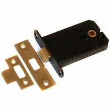 Box Mortice Door Latch 100mm Polished Brass