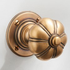 Bradgate Door Knobs Antique Satin Brass
