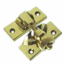 Brighton Sash Fastener Polished Brass