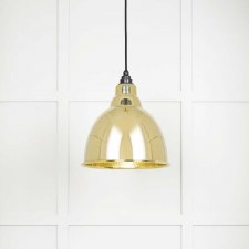 From The Anvil Brindley Pendant Light Hammered Brass