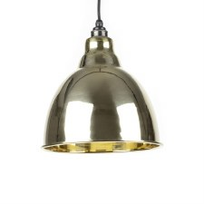 From The Anvil Brindley Pendant Light Smooth Brass