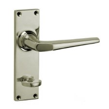 Croft Brockton 250B Bathroom Door Handles Polished Nickel