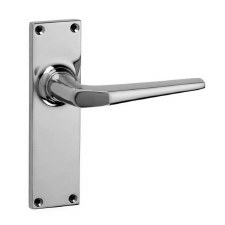 Croft Brockton 250L Door Latch Handles Polished Chrome