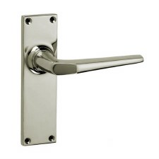 Croft Brockton 250L Door Latch Handles Polished Nickel