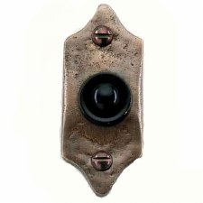 Country Bronze Door Bell Push