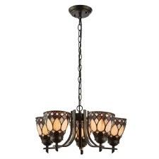 Interiors 1900 Brooklyn Tiffany 5 Light Up Pendant 74352