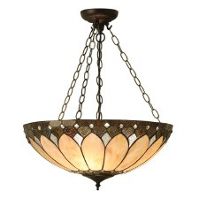 Interiors 1900 Brooklyn Tiffany Inverted Ceiling Pendant Light
