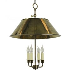 Broughton Pendant Ceiling Light, Light Antique Brass