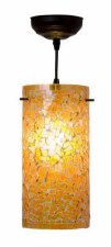 Brunswick Orange Cylinder Ceiling Pendant Light