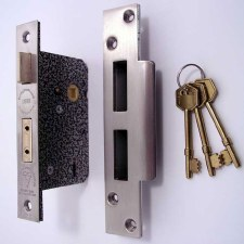 Broughtons 5 Lever BS Mortice Door Lock 76mm Stainless Steel