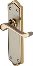 Heritage Buckingham Latch Door Handles W4210 Satin Nickel & Gold