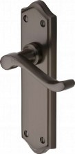 Heritage Buckingham Latch Door Handles W4210 Matt Bronze