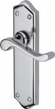 Heritage Buckingham Latch Door Handles W4210 Polished Chrome