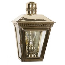 Buckingham Flush Outdoor Wall Lantern Polished Brass Unlacquered
