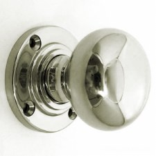 Aston Bun Door Knobs Polished Nickel 51mm