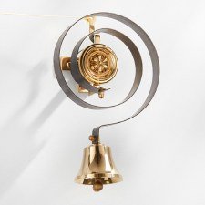 Butlers Door Bell with Pulley Set Polished Brass Unlacquered