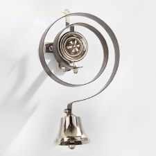 Butlers Door Bell with Pulley Set Polished Nickel