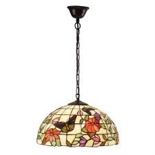 Interiors 1900 Butterfly Medium Tiffany Ceiling Light Pendant