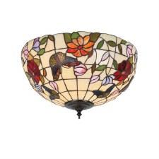 Interiors 1900 Butterfly Tiffany Medium Flush Light 70713