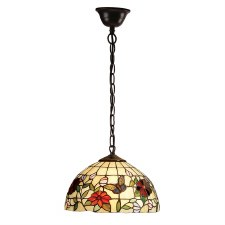 Interiors 1900 Butterfly Tiffany Ceiling Pendant Small