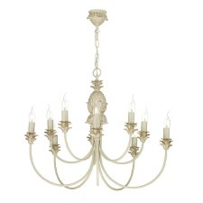 David Hunt CAB2312 Cabana 10 Light Pendant Cream & Gold