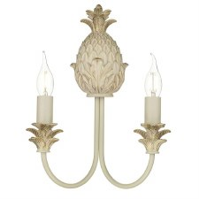 David Hunt CAB0912 Cabana Double Wall Light Cream and Gold