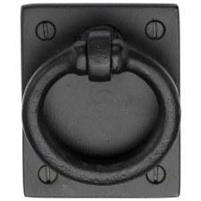 Heritage Cabinet Drop Pull FB6367 Black Iron Rustic