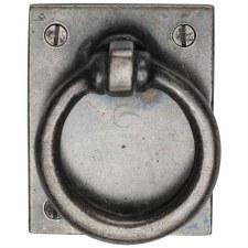 Heritage Cabinet Drop Pull WM6367 White Bronze Rustic