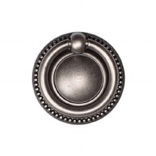 Heritage Classic Beaded Cabinet Drop Pull TK2212 Distressed Pewter
