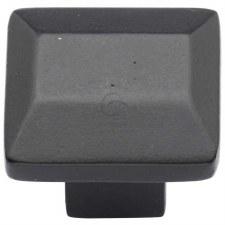 Heritage Trapezoid Cabinet Knob FB3625 Black Iron Rustic